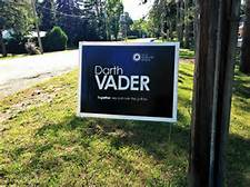 darth vader lawn sign